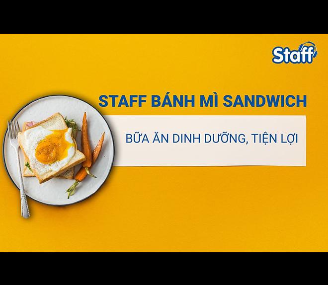 Staff bánh mì Sandwich dinh dưỡng, tiện lợi - Bánh Mì Staff