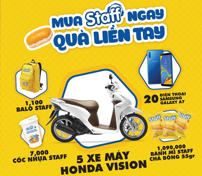 Khuyến mại Hot: MUA STAFF NGAY - QUÀ LIỀN TAY - Bánh Mì Staff