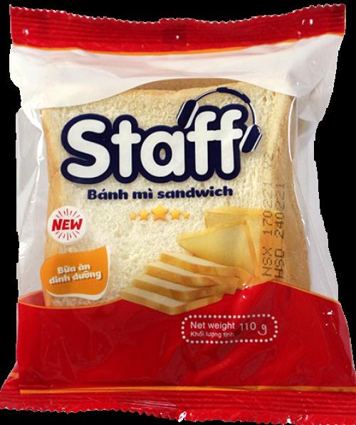 Staff bánh mì sandwich lát 110g - Bánh Mì Staff